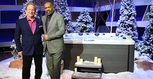 Master Spas gives away 5 hot tubs on the steve harvey show