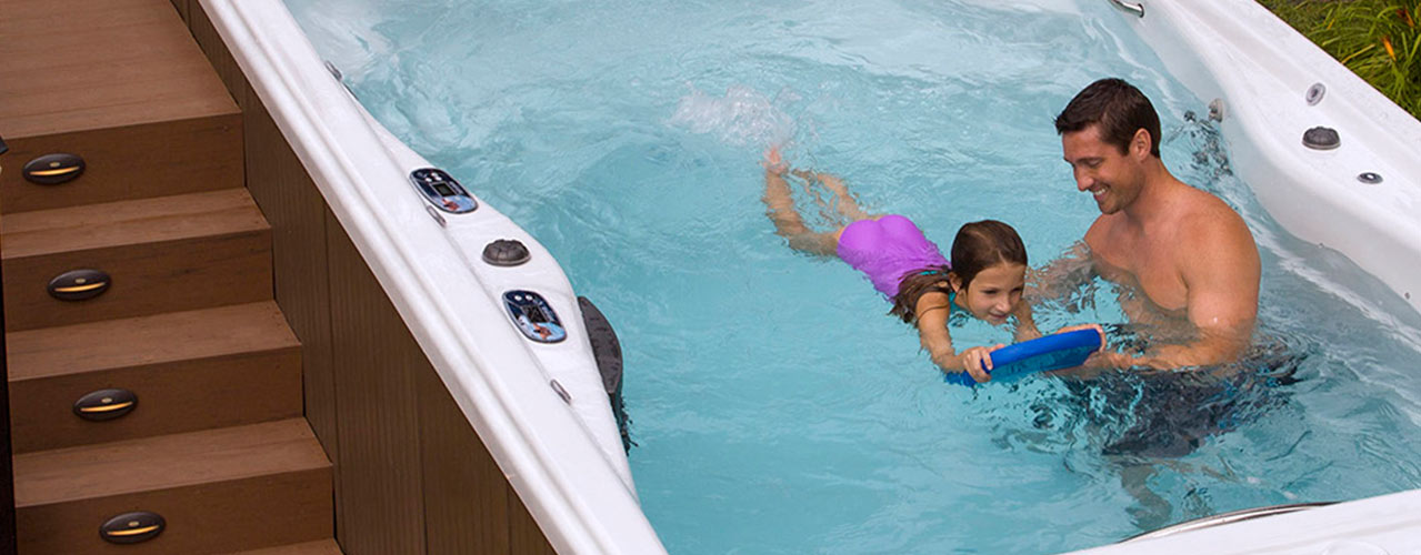 The Michael Phelps swim spa is a perfect way for children to learn to swim