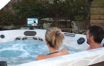 Deluxe Fusion Air bluetooth hot tub Sound System with marine grade speakers and subwoofer