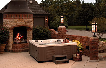 Energy Efficient Hot tubs keep the heat in keeping the cost low.
