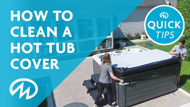 How to clean your hot tub cover