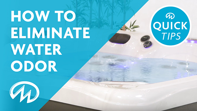 How to take care of hot tub water odor